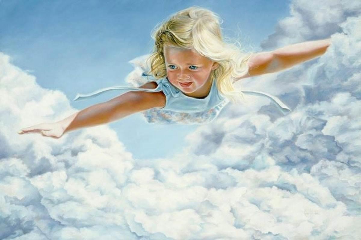 Танечка вучыцца лётать.