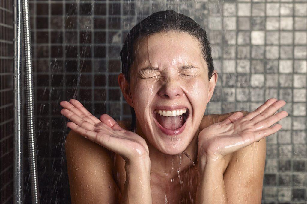 Загартоўванне. Кантрасны душ.