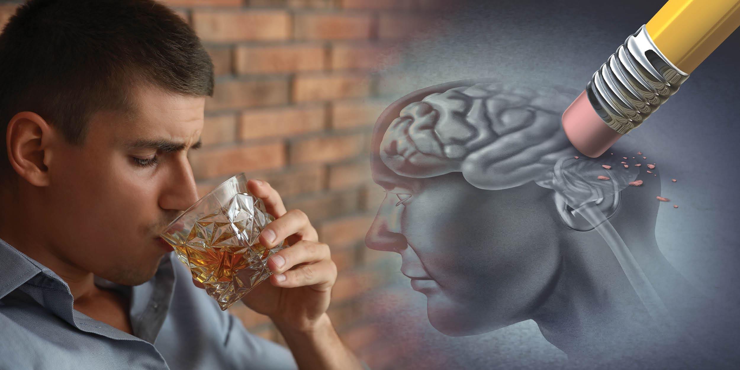 Алкаголь і мозг. Адміранне нейронаў.