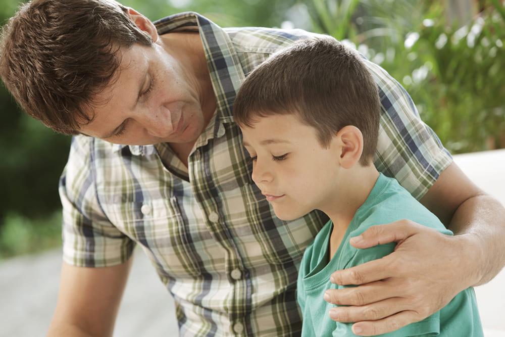 Развод бацькоў. Размова таты з сынам.