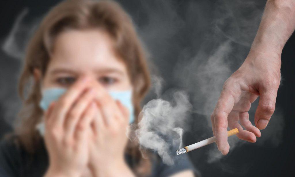 Пасіўнае курэнне. Дым праз маску.