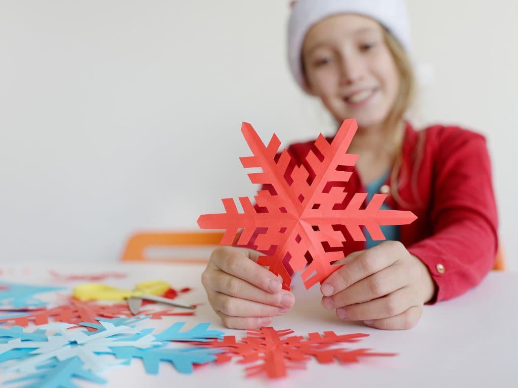 Сняжынкі з паперы. Сняжынкі сваімі рукамі.