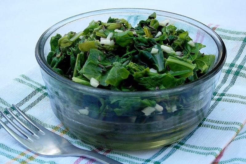 Мангольд. Вітамінная салата для імунітэту.