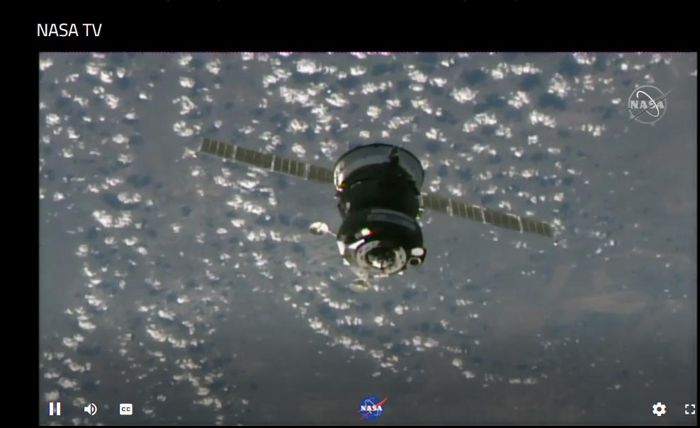 Алег Навіцкі. Стыкоўка. НАСА ТВ.