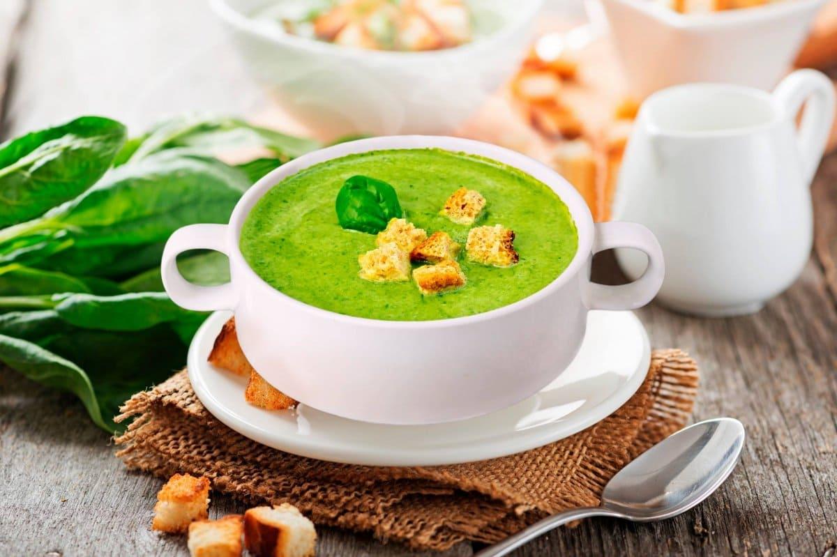 Вітамін К. Крэм-суп са шпінату