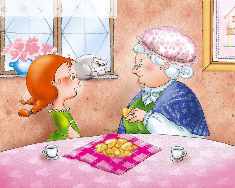 Лізаветка. Размова з бабуляй.