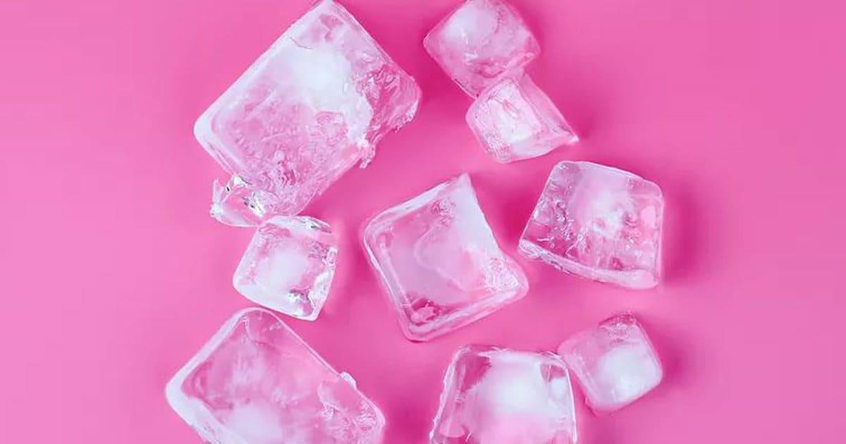 Пялёсткі шыпшыны. Ружовы лёд.