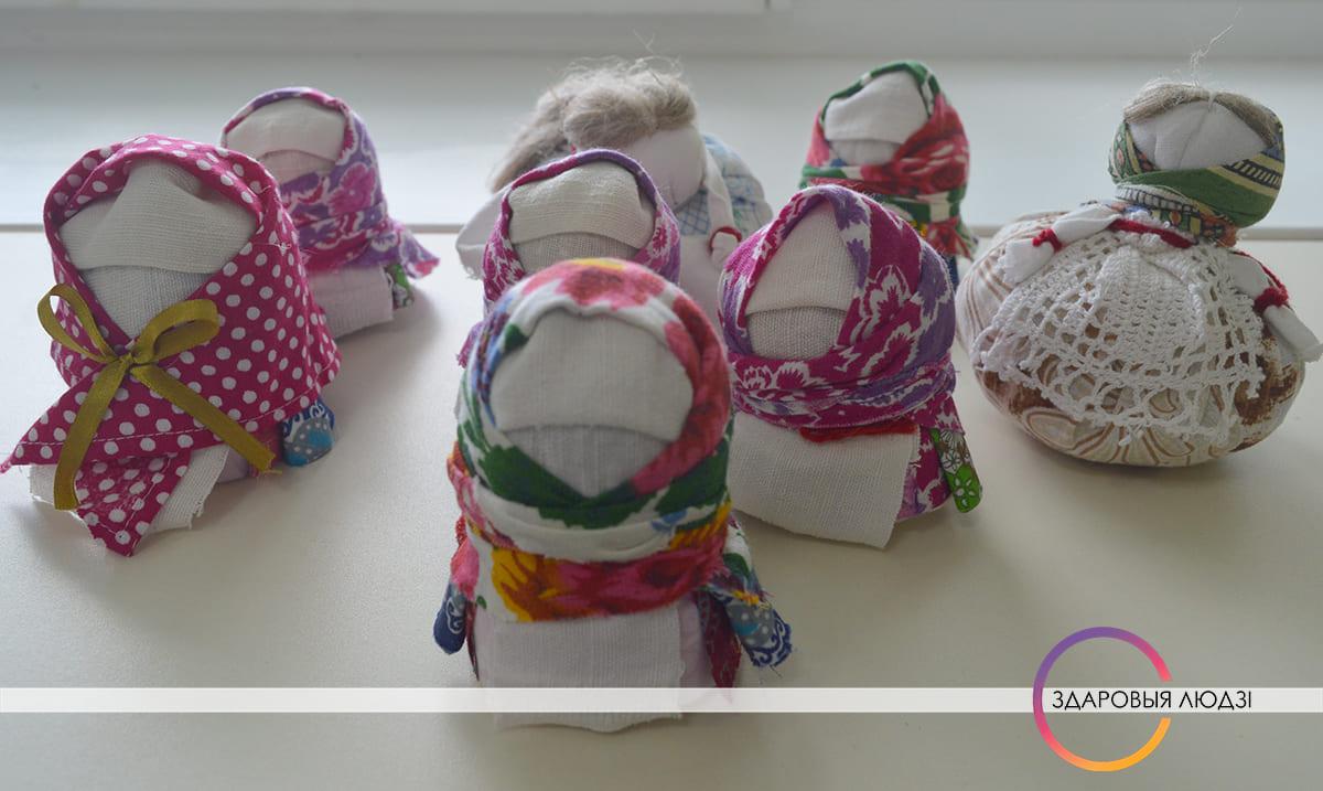 Беларускія паясы. Лялькі-абярэгі.