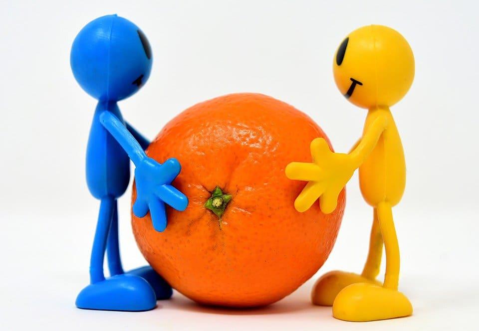 Яблыкі і апельсіны. Казка пра вітамінных чалавечкаў.